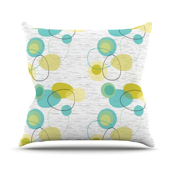 "Nina May ""Vaniretro"" Outdoor Throw Pillow - KESS InHouse  - 1"