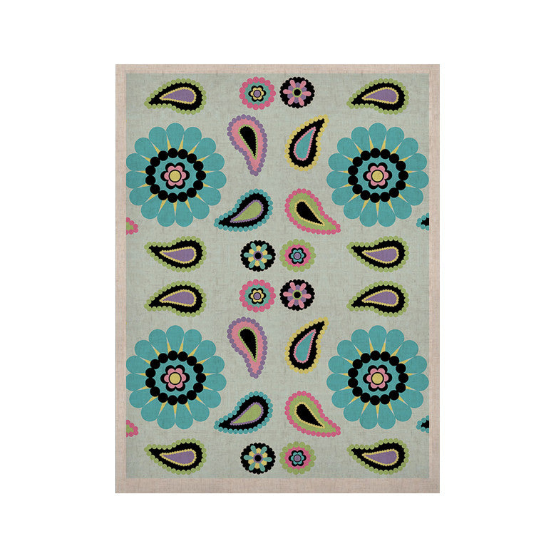 "Nina May ""Paisley Candy"" Paisley Flower KESS Naturals Canvas (Frame not Included) - KESS InHouse  - 1"
