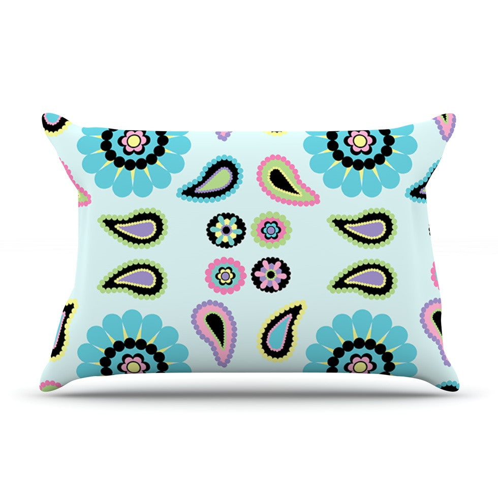 "Nina May ""Paisley Candy"" Paisley Flower Pillow Sham - KESS InHouse"
