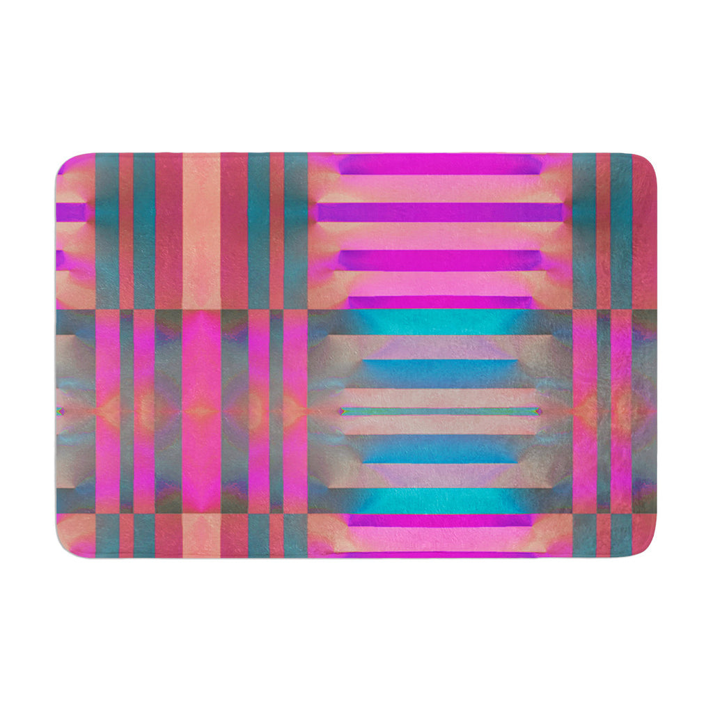 "Nina May ""Tracking"" Stripes Memory Foam Bath Mat - KESS InHouse"
