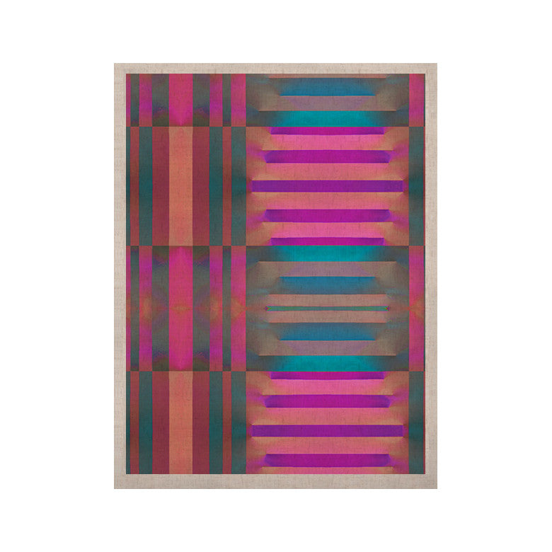 "Nina May ""Tracking"" Stripes KESS Naturals Canvas (Frame not Included) - KESS InHouse  - 1"