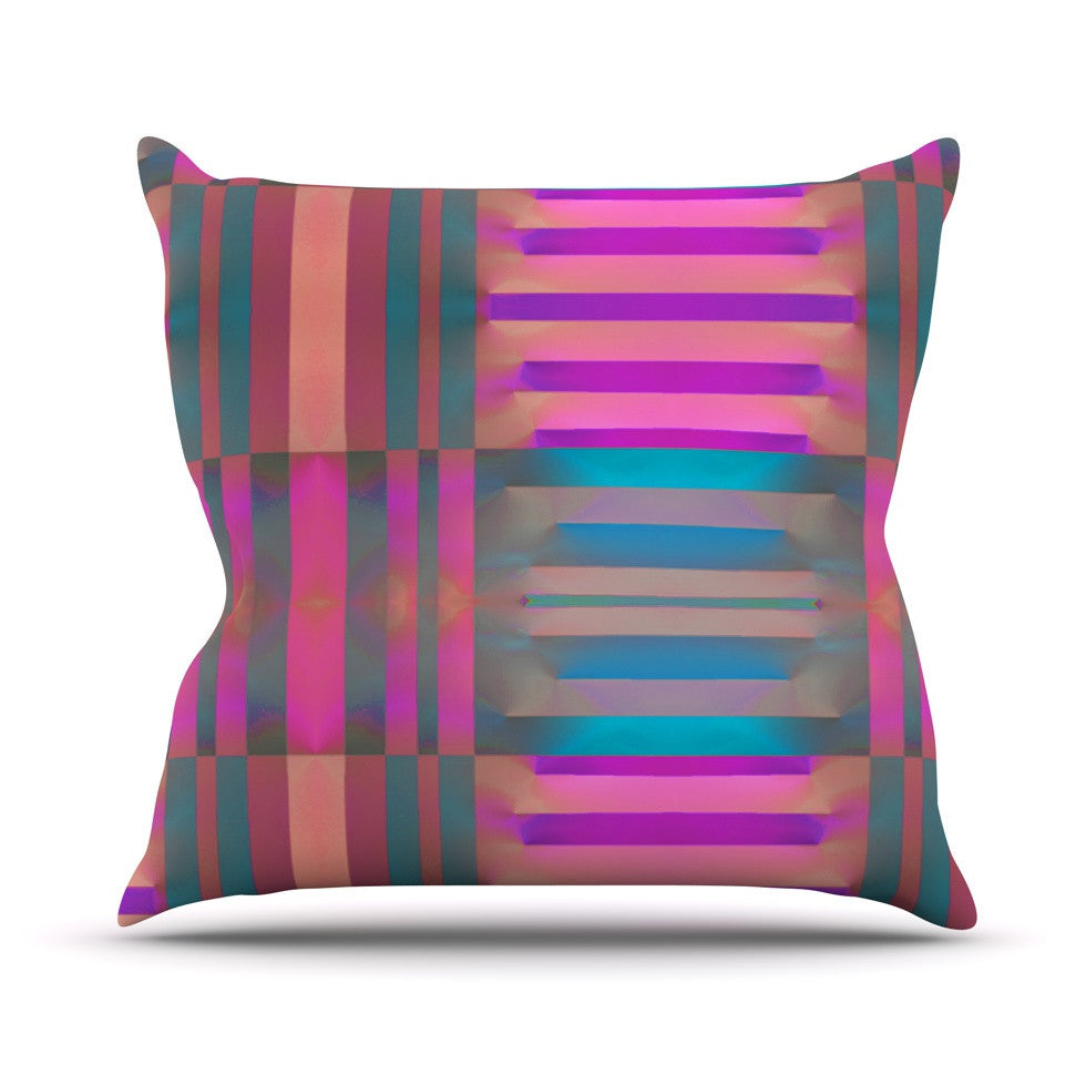 "Nina May ""Tracking"" Stripes Outdoor Throw Pillow - KESS InHouse  - 1"