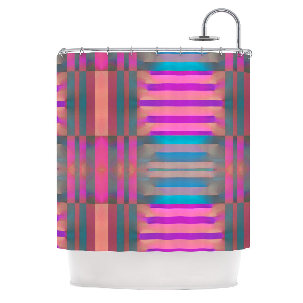 "Nina May ""Tracking"" Stripes Shower Curtain - KESS InHouse"