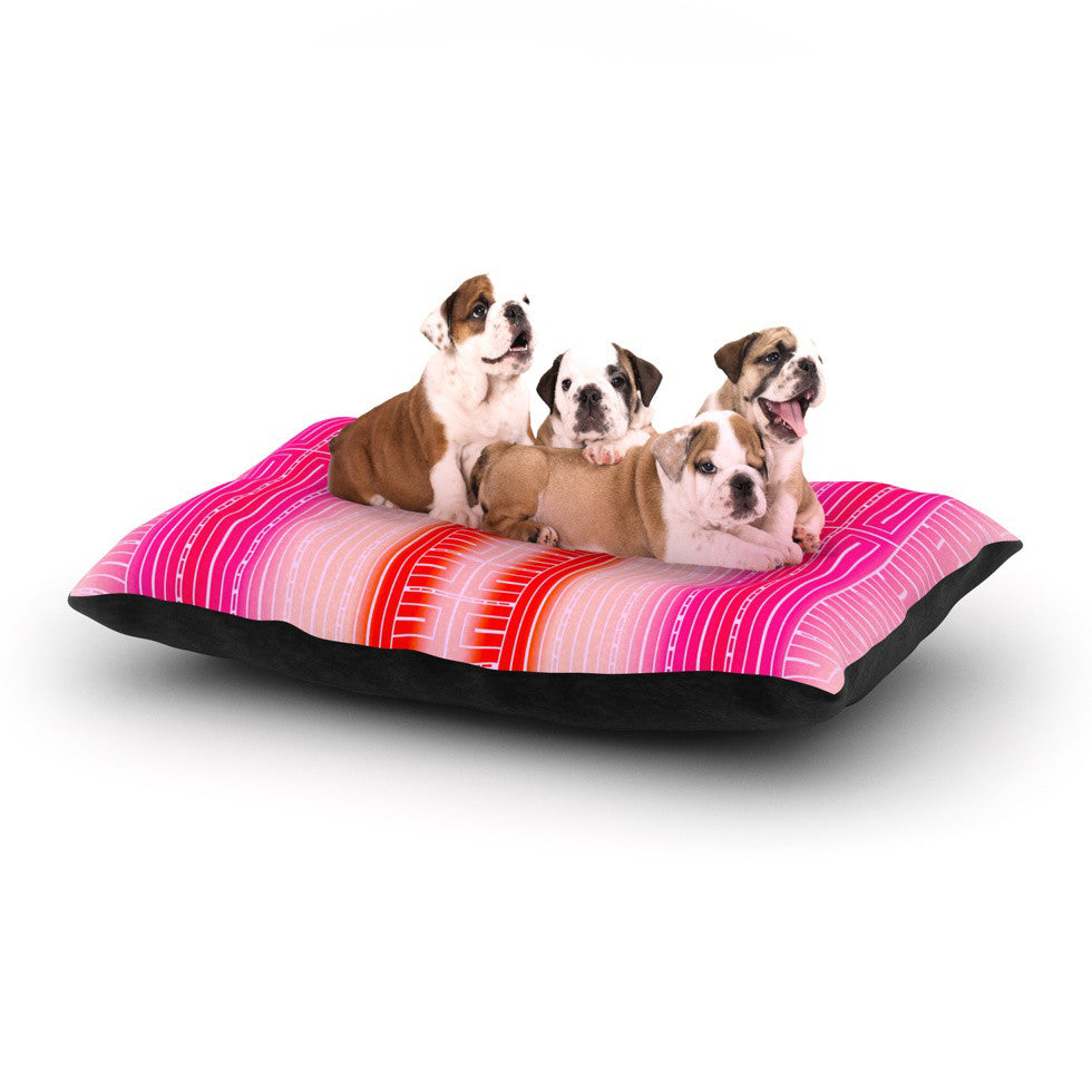 "Nina May ""Deco City Blush"" Dog Bed - KESS InHouse  - 1"