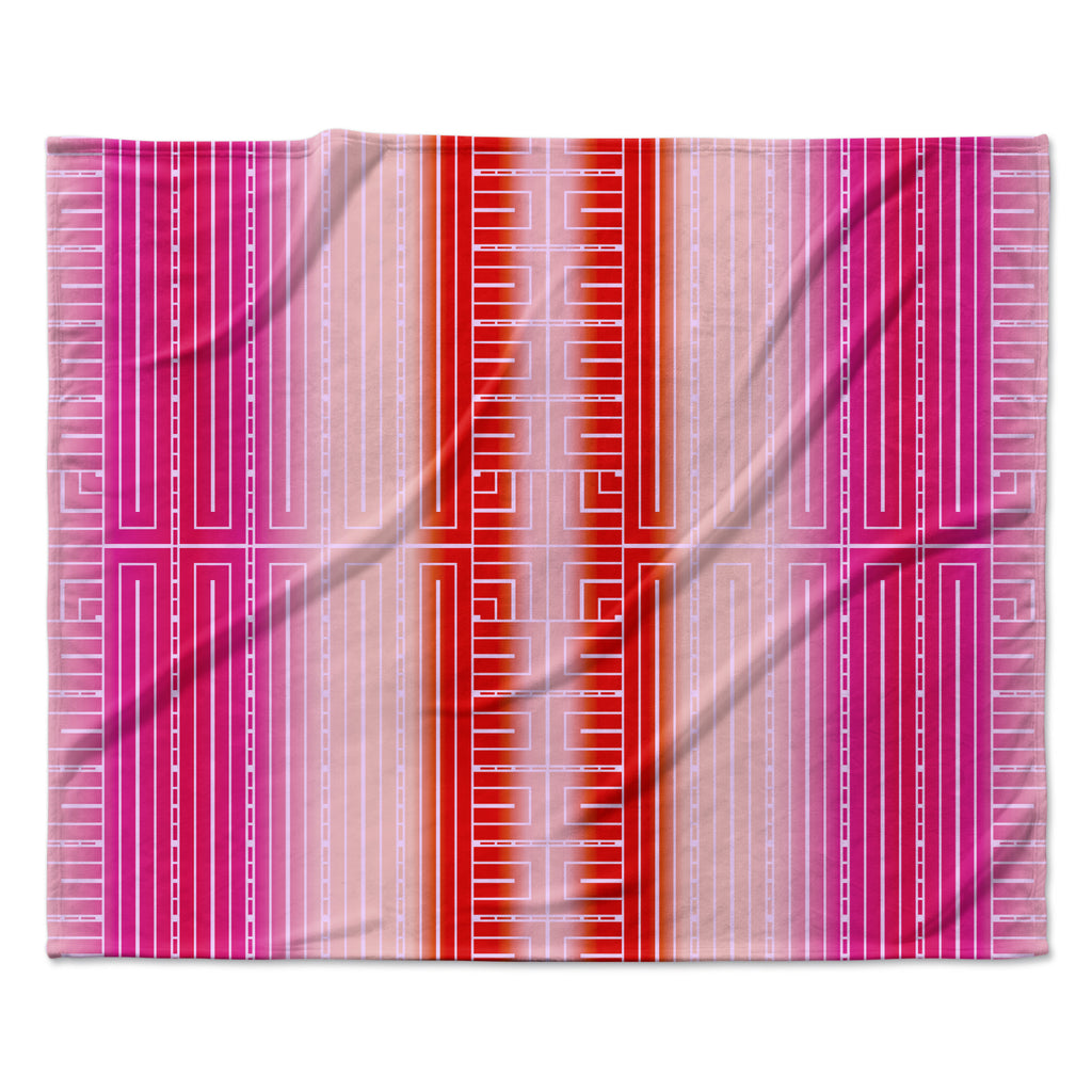 "Nina May ""Deco City Blush"" Fleece Throw Blanket"