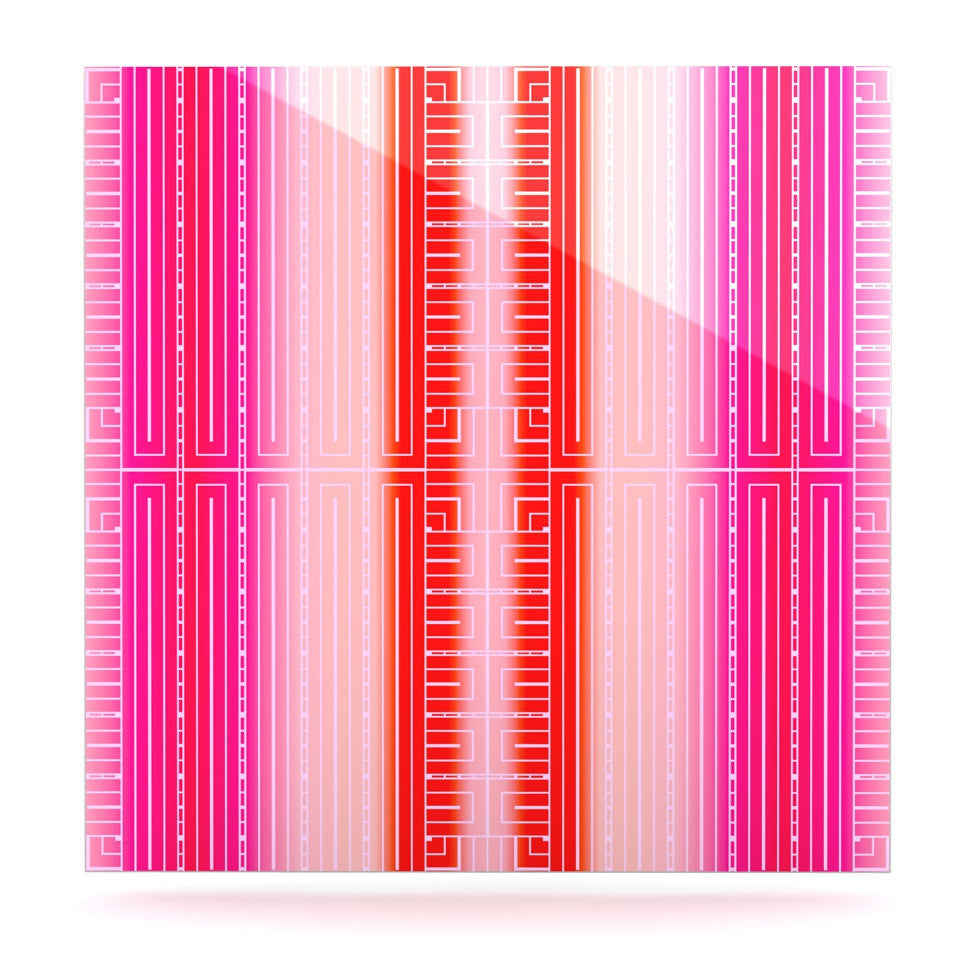 "Nina May ""Deco City Blush"" Luxe Square Panel - KESS InHouse  - 1"