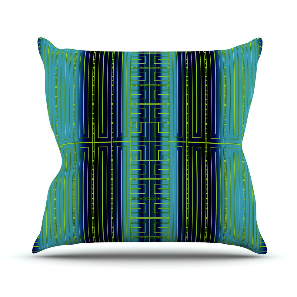 "Nina May ""Deco City"" Throw Pillow - KESS InHouse  - 1"