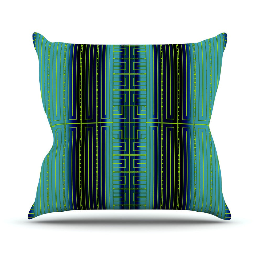 "Nina May ""Deco City"" Outdoor Throw Pillow - KESS InHouse  - 1"