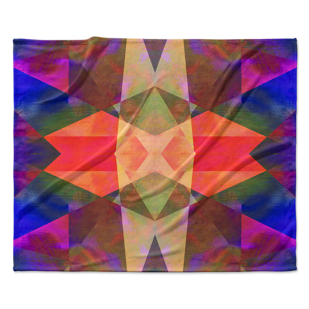 "Nina May ""Irridesco"" Fleece Throw Blanket"