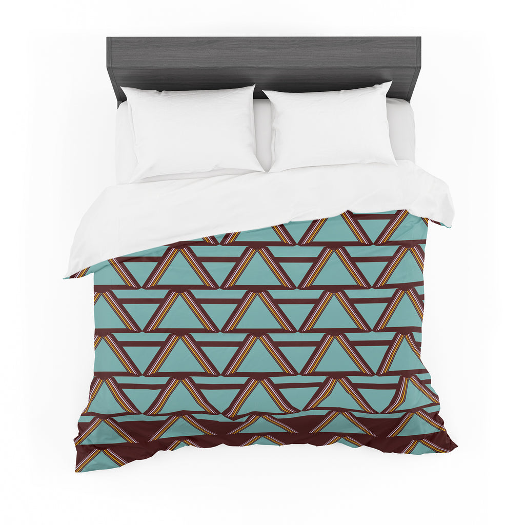 "Nina May ""Deco Angels Choco Mint"" Cotton Duvet"