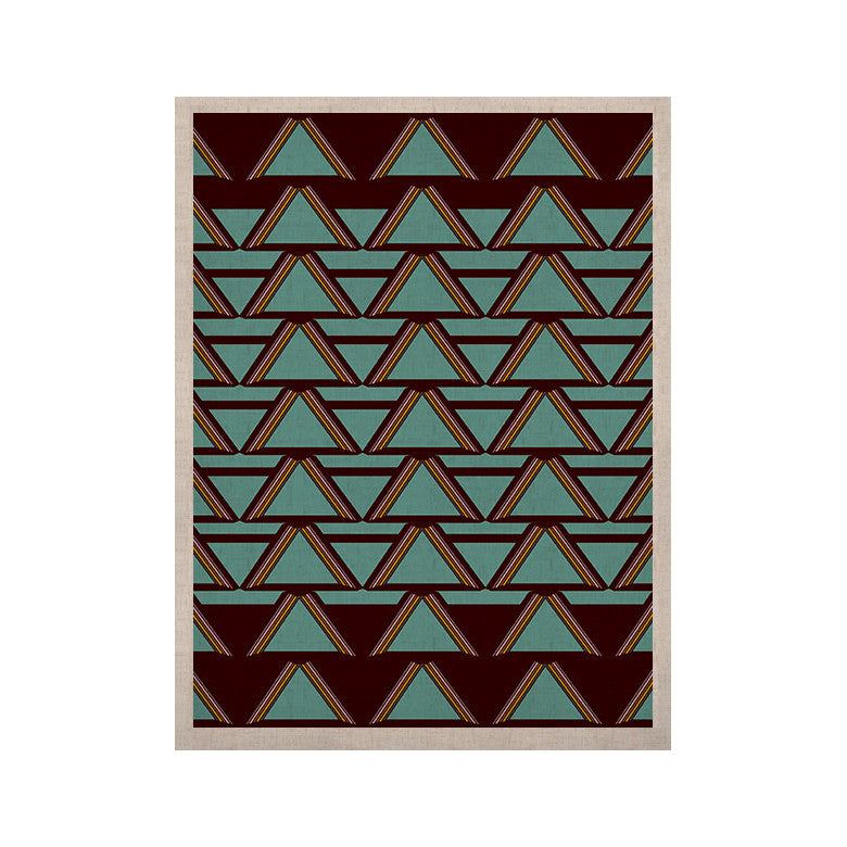 "Nina May ""Deco Angels Choco Mint"" KESS Naturals Canvas (Frame not Included) - KESS InHouse  - 1"