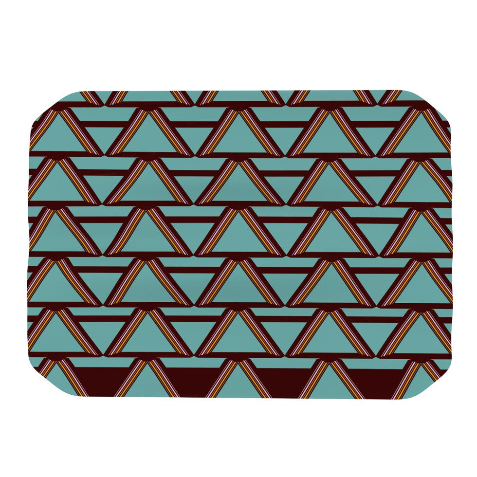 "Nina May ""Deco Angels Choco Mint"" Place Mat - KESS InHouse"