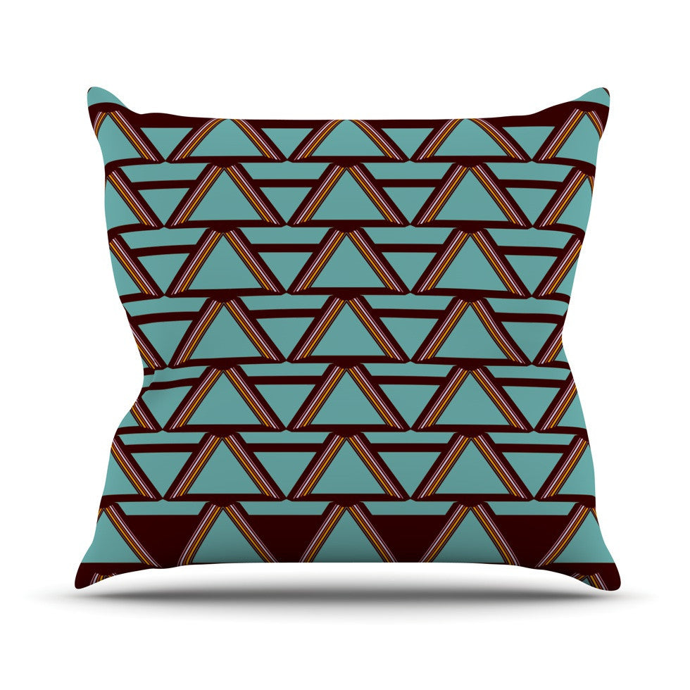 "Nina May ""Deco Angels Choco Mint"" Outdoor Throw Pillow - KESS InHouse  - 1"
