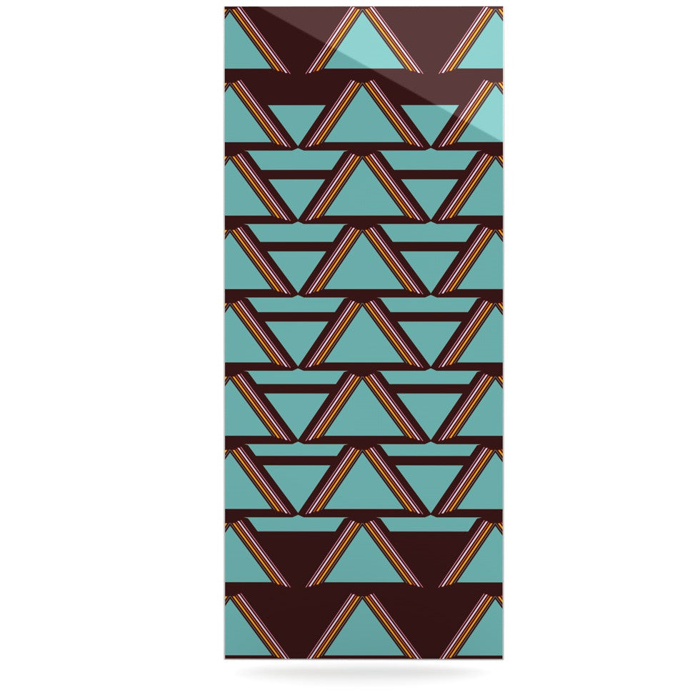 "Nina May ""Deco Angels Choco Mint"" Luxe Rectangle Panel - KESS InHouse  - 1"