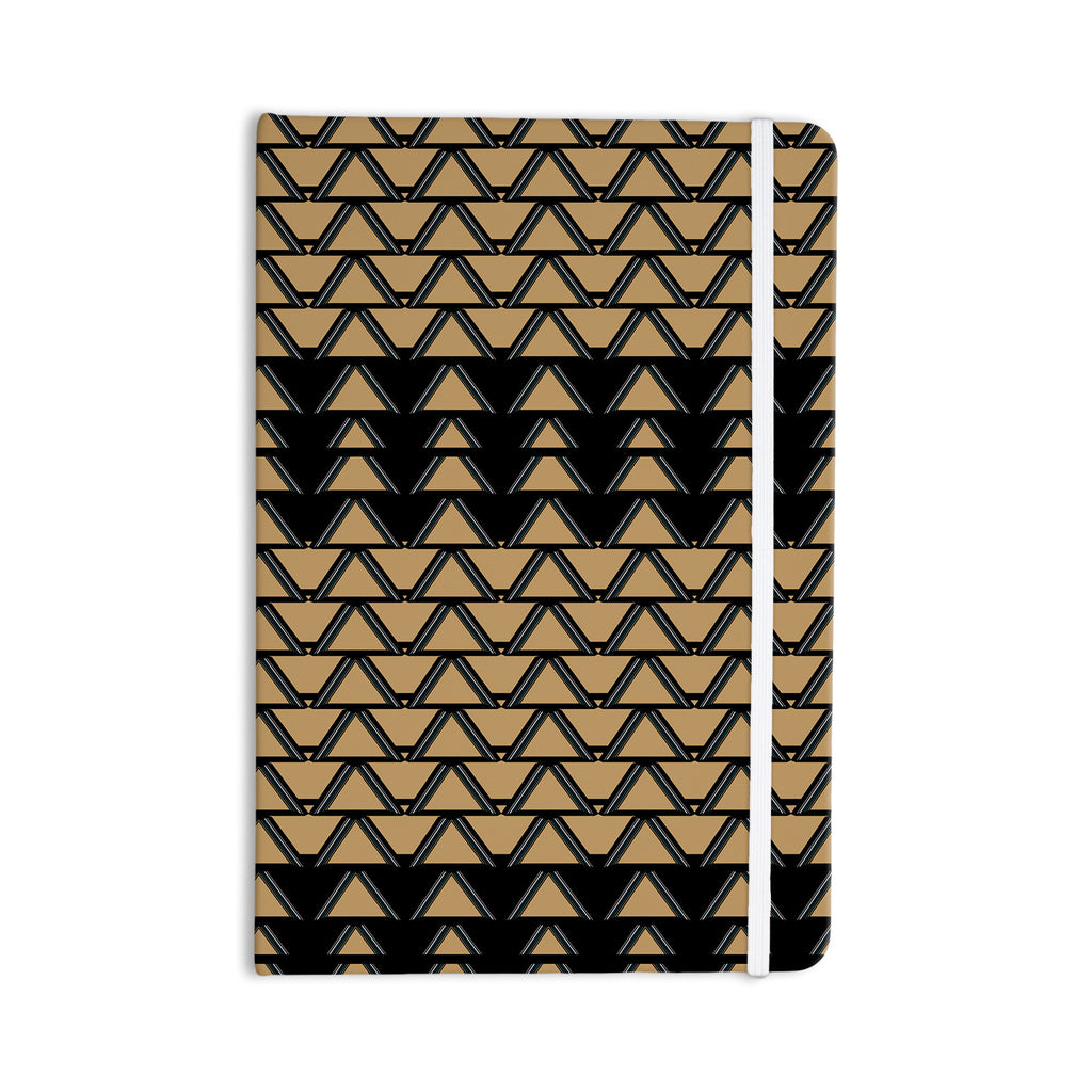 "Nina May ""Deco Angles Gold Black"" Everything Notebook - KESS InHouse  - 1"