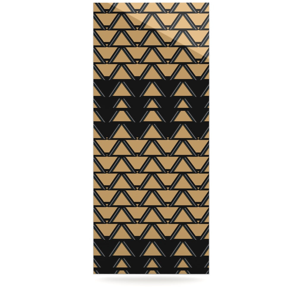 "Nina May ""Deco Angles Gold Black"" Luxe Rectangle Panel - KESS InHouse  - 1"