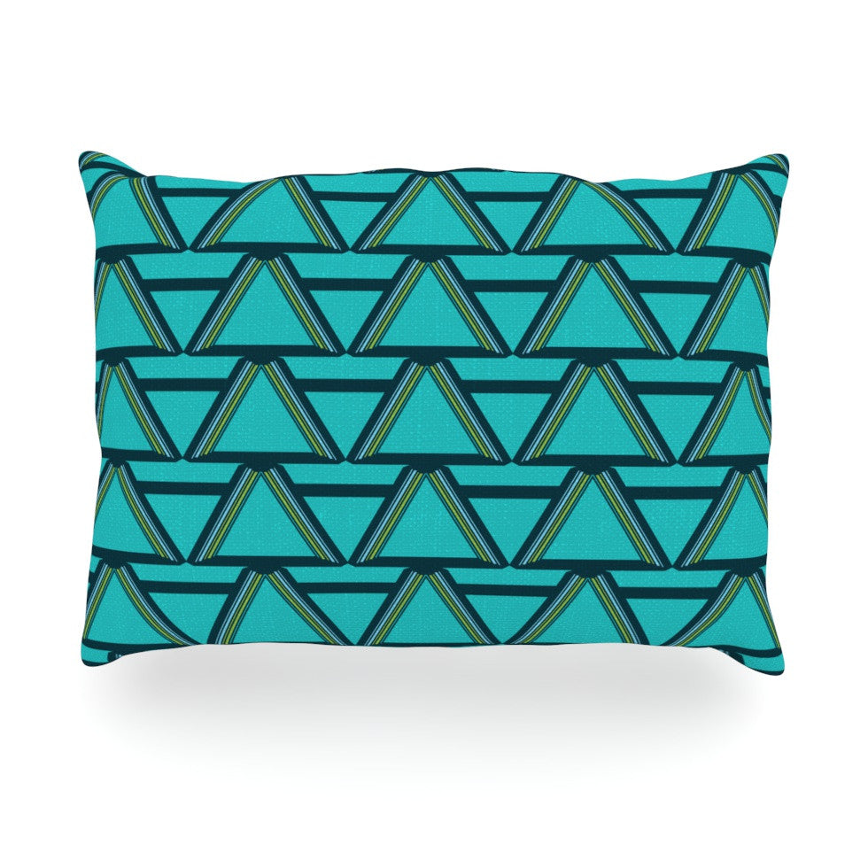 "Nina May ""Deco Angles"" Oblong Pillow - KESS InHouse"