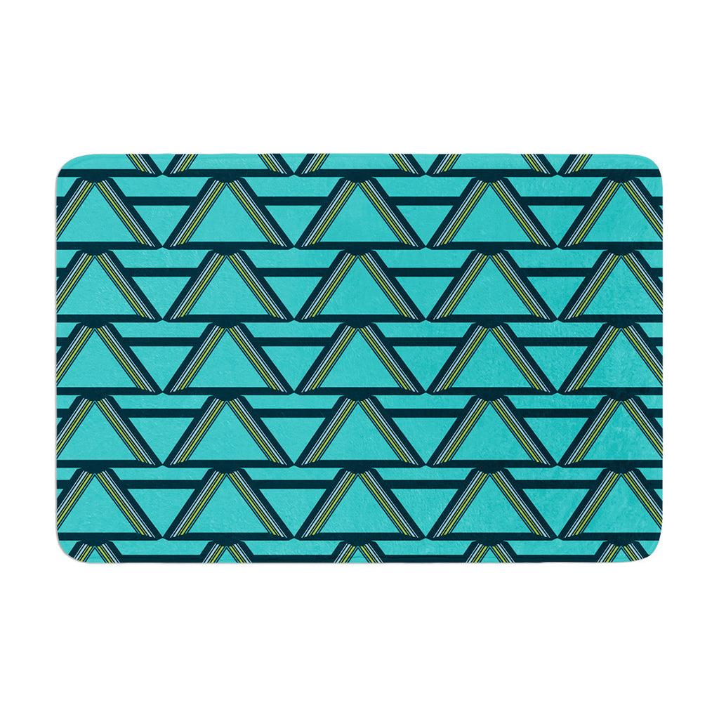 "Nina May ""Deco Angles"" Memory Foam Bath Mat - KESS InHouse"