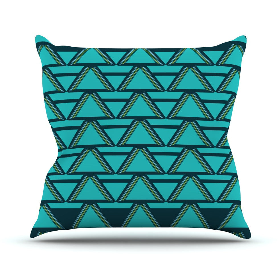 "Nina May ""Deco Angles"" Outdoor Throw Pillow - KESS InHouse  - 1"