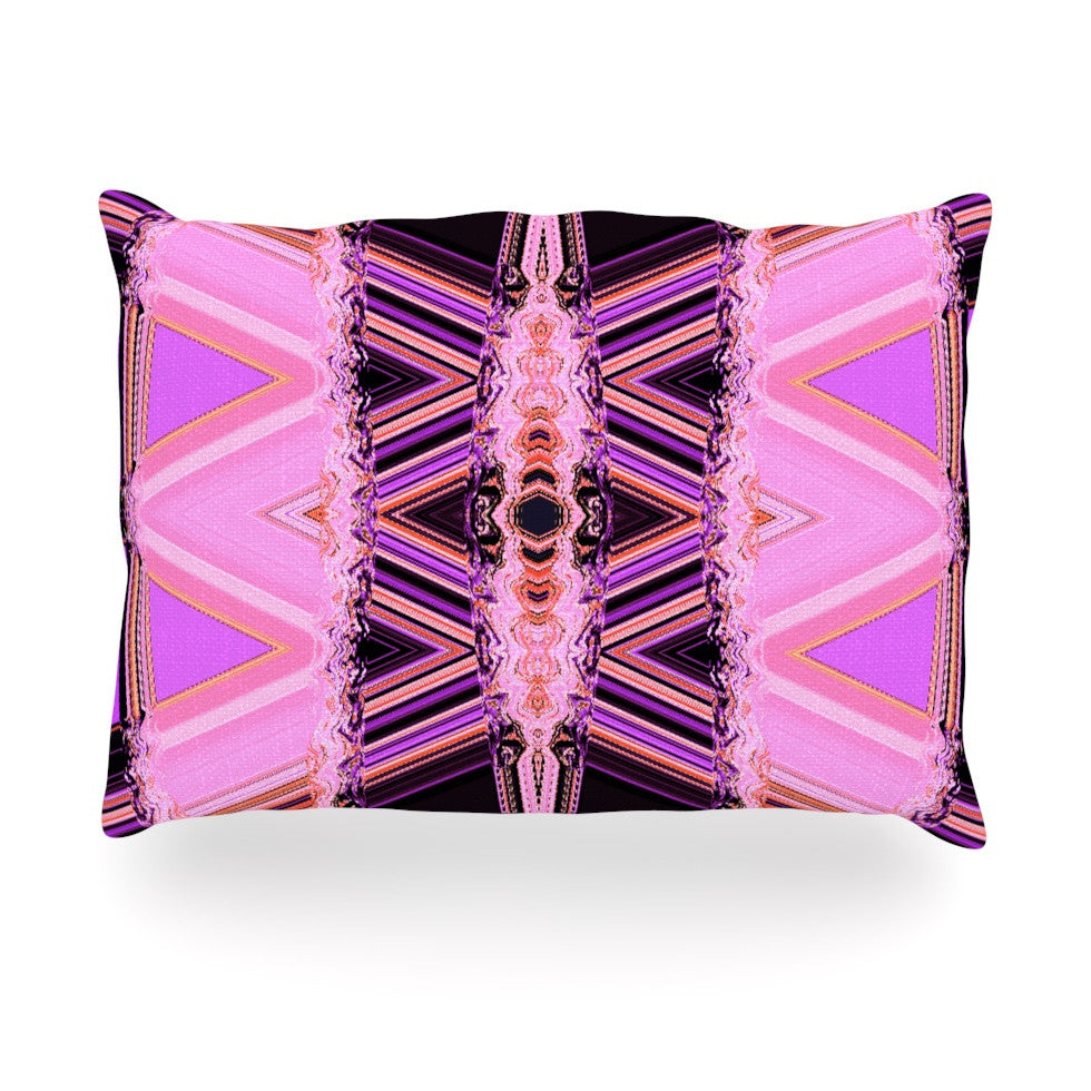 "Nina May ""Decorama Pink"" Oblong Pillow - KESS InHouse"