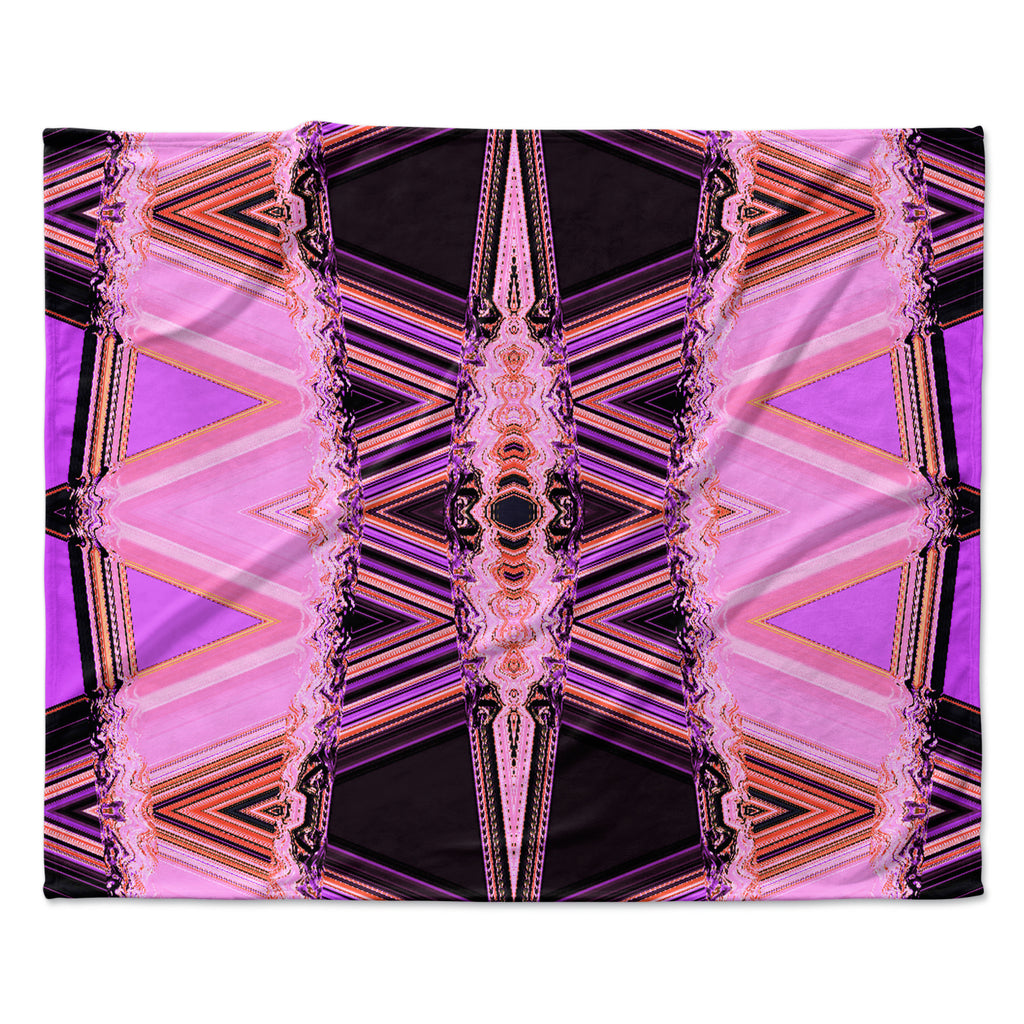 "Nina May ""Decorama Pink"" Fleece Throw Blanket"