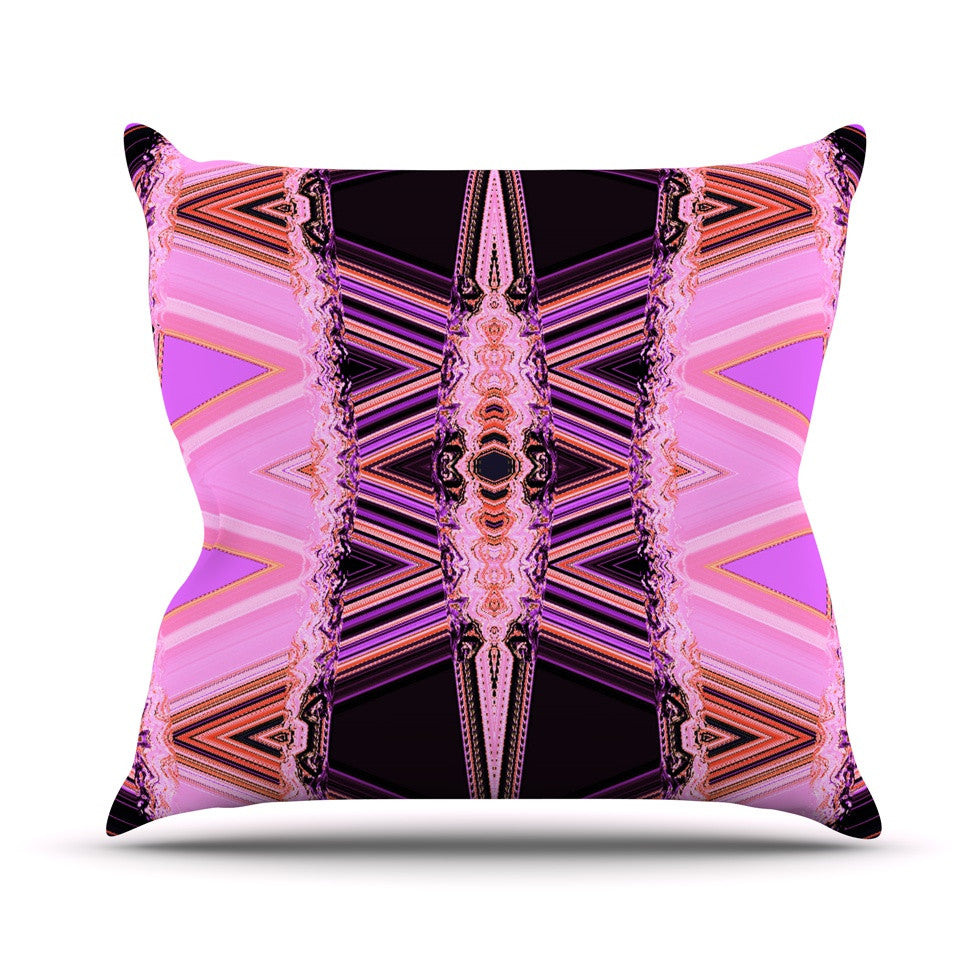 "Nina May ""Decorama Pink"" Throw Pillow - KESS InHouse  - 1"