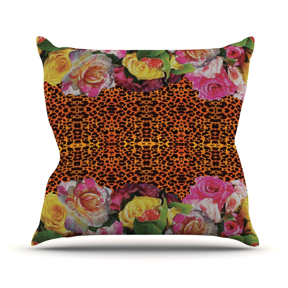 "Nina May ""New Rose Eleo"" Outdoor Throw Pillow - KESS InHouse  - 1"