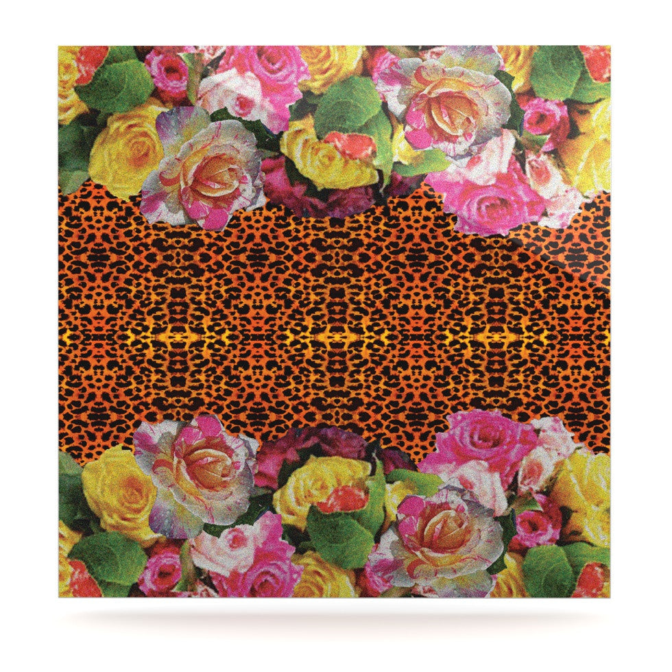 "Nina May ""New Rose Eleo"" Luxe Square Panel - KESS InHouse  - 1"