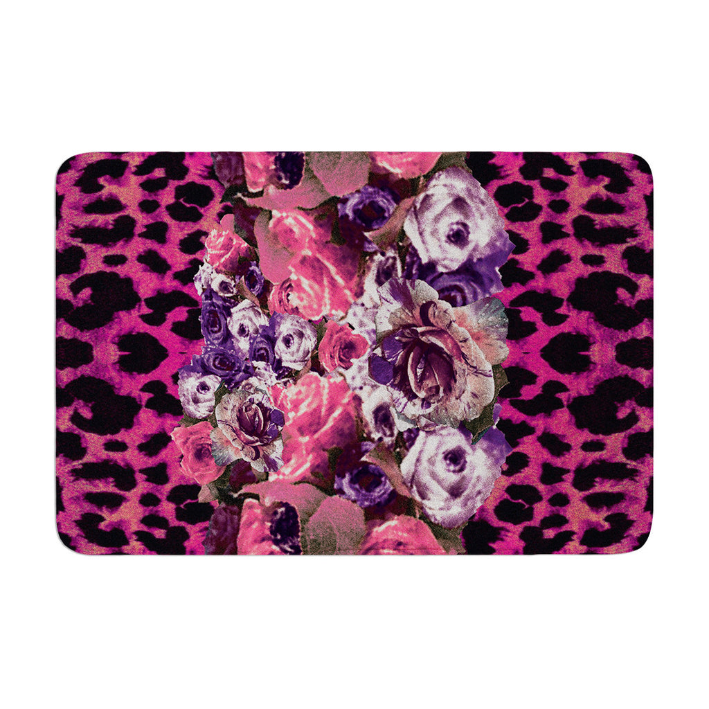 "Nina May ""Rose Stripe"" Memory Foam Bath Mat - KESS InHouse"