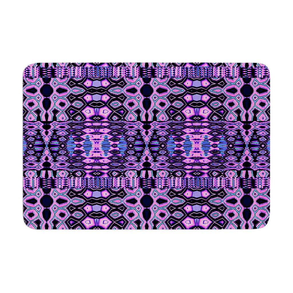 "Nina May ""Medeaquilt"" Purple Black Memory Foam Bath Mat"