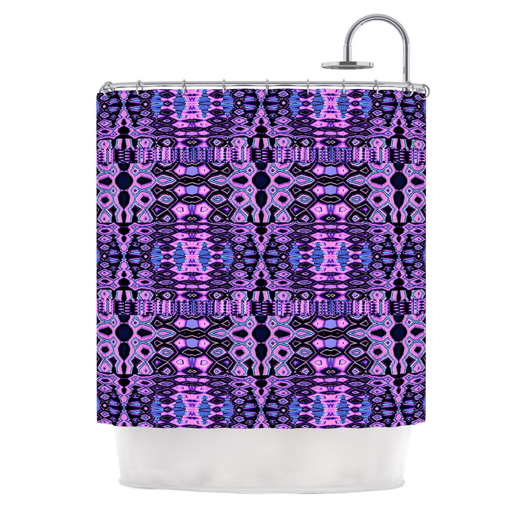 "Nina May ""Medeaquilt"" Purple Black Shower Curtain"