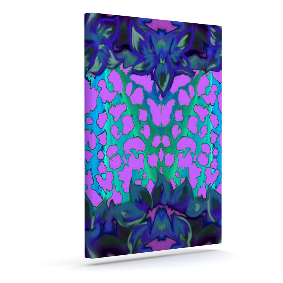 "Nina May ""Cerruda Blue Orchid"" Purple Teal Canvas Art - KESS InHouse  - 1"