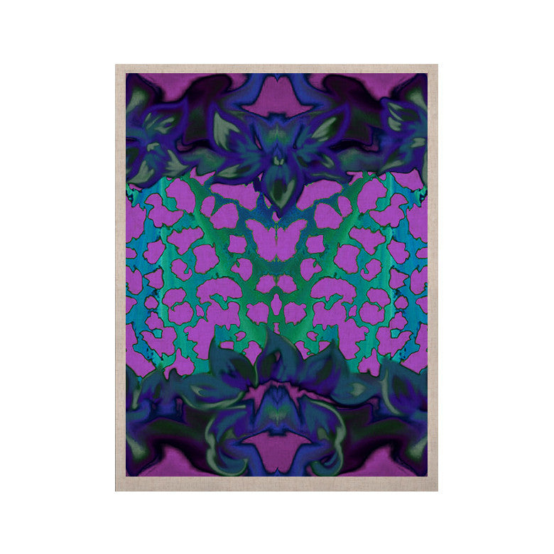 "Nina May ""Cerruda Blue Orchid"" Purple Teal KESS Naturals Canvas (Frame not Included) - KESS InHouse  - 1"