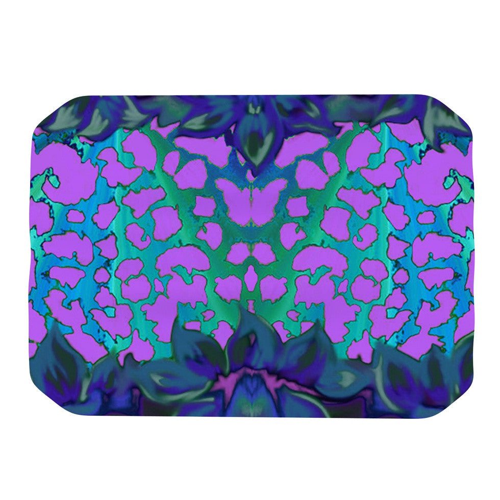 "Nina May ""Cerruda Blue Orchid"" Purple Teal Place Mat - KESS InHouse"
