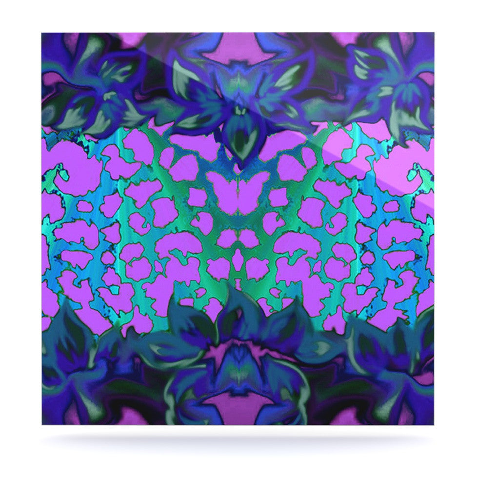 "Nina May ""Cerruda Blue Orchid"" Purple Teal Luxe Square Panel - KESS InHouse  - 1"