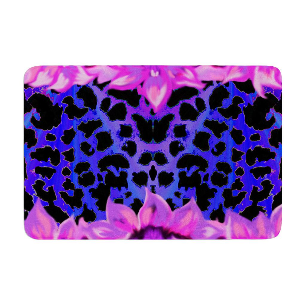 "Nina May ""Cerruda Leora"" Purple Pink Memory Foam Bath Mat - KESS InHouse"