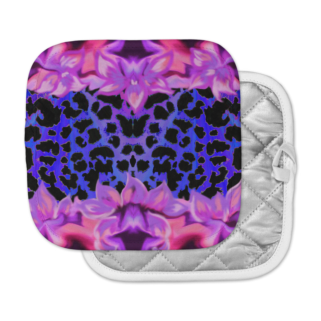 "Nina May ""Cerruda Leora"" Purple Pink Pot Holder"