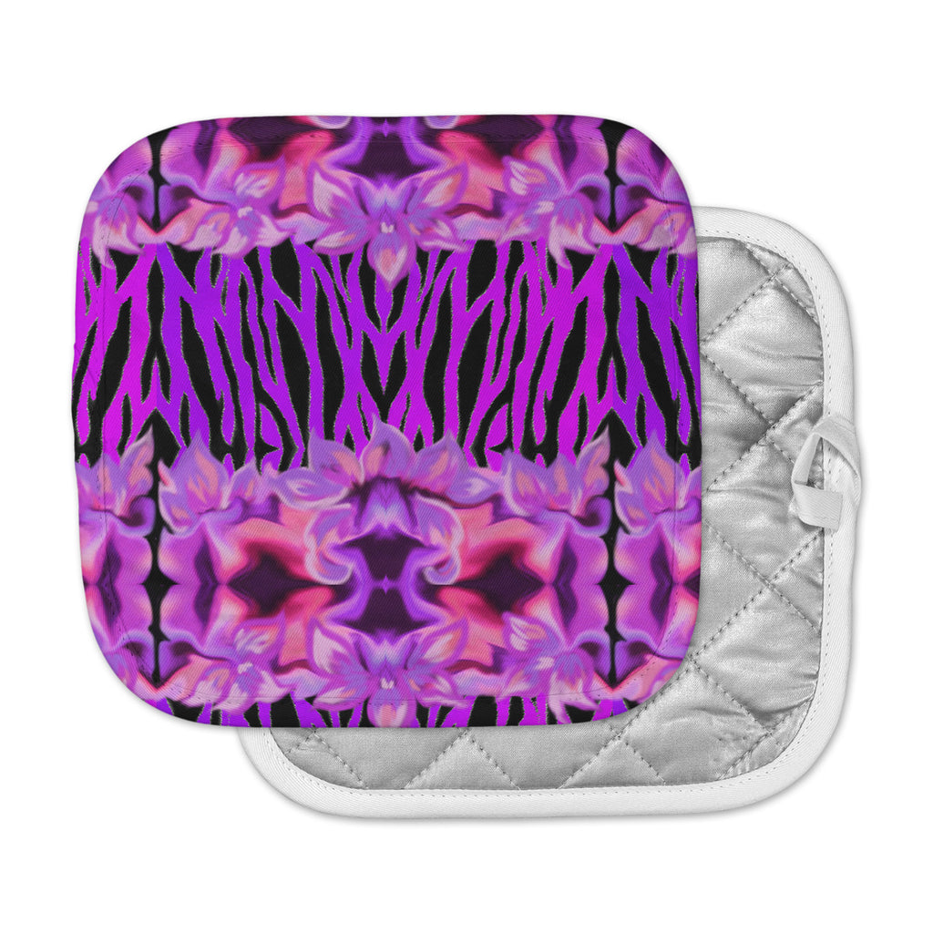 "Nina May ""Cezarra"" Pink Purple Pot Holder"