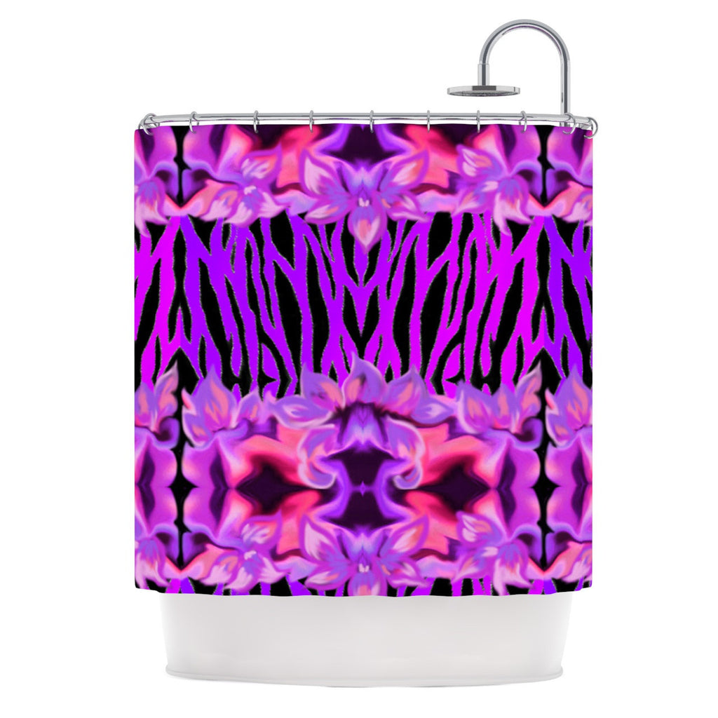 "Nina May ""Cezarra"" Pink Purple Shower Curtain - KESS InHouse"