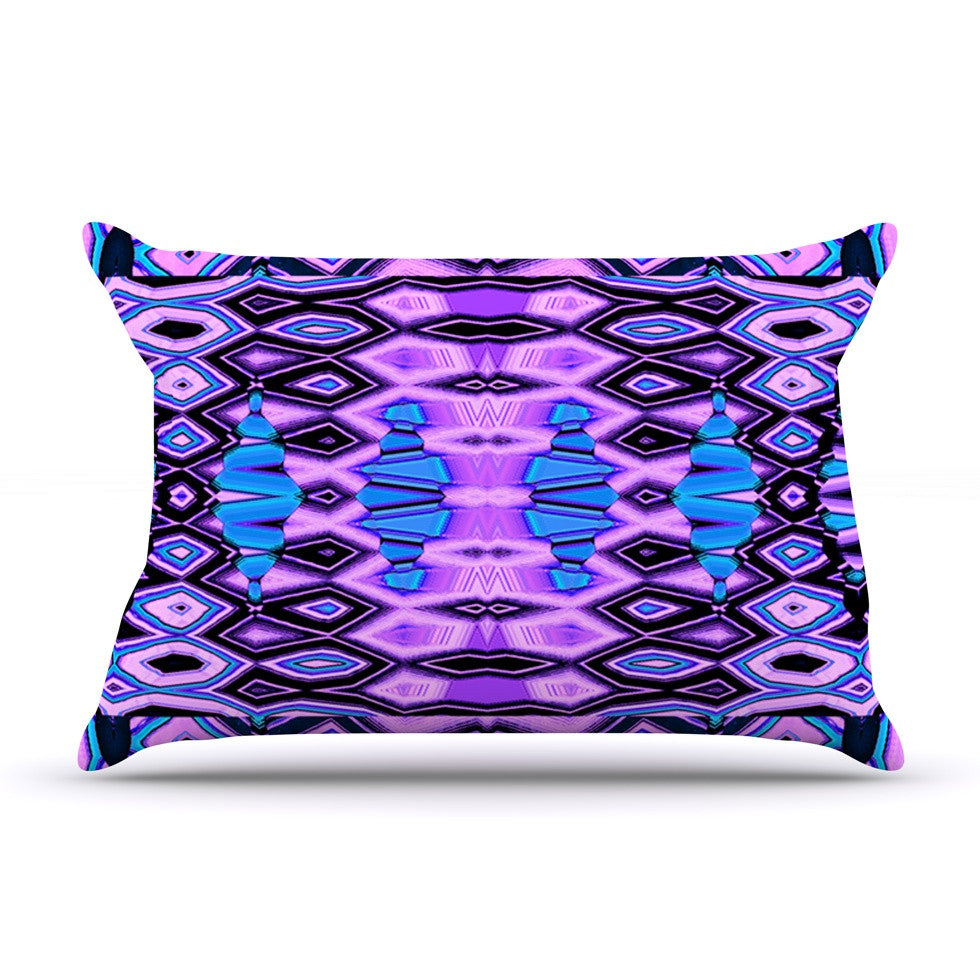 "Nina May ""Deztecca Lilac"" Purple Blue Pillow Sham - KESS InHouse"