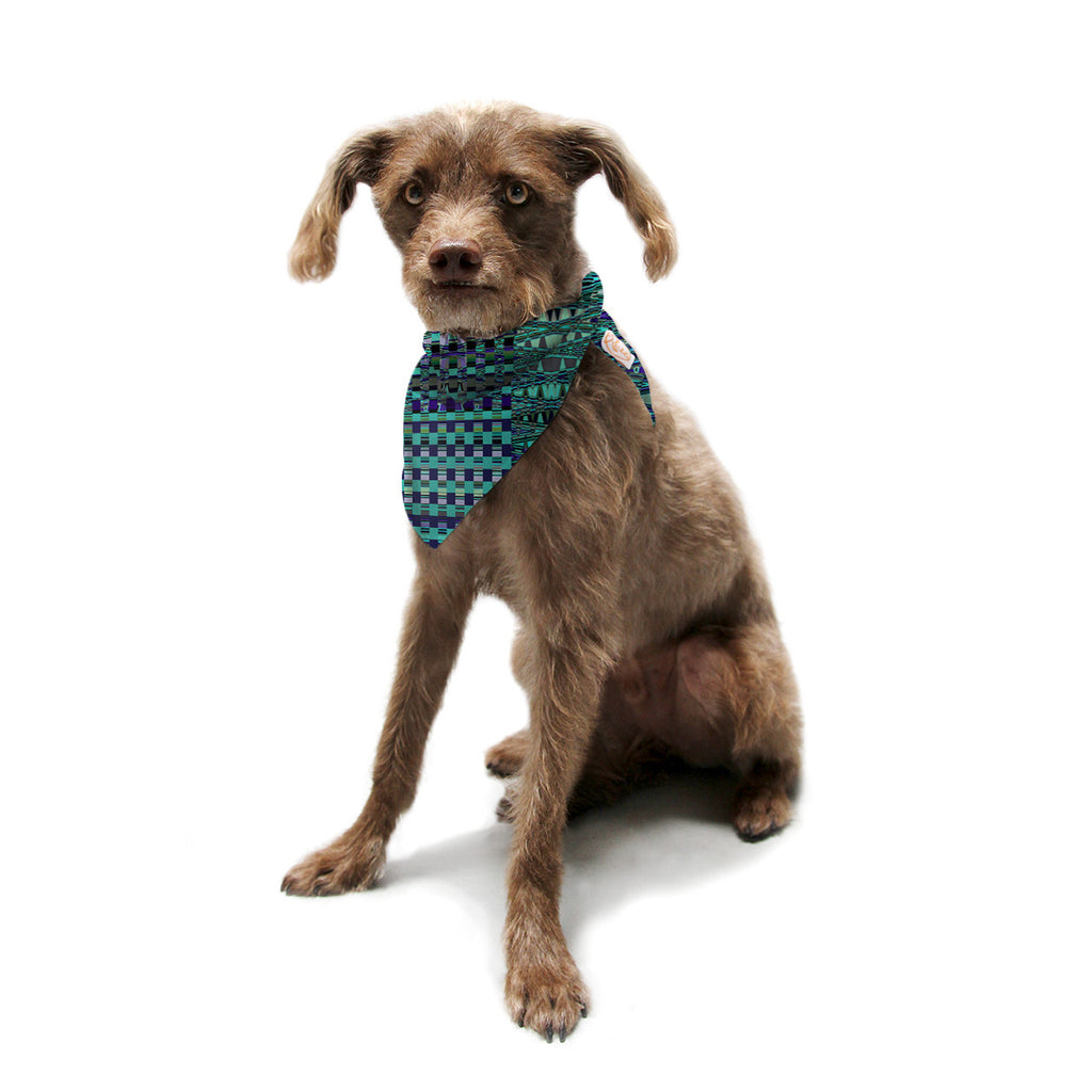 "Nina May ""New Kilim Seafoam"" Teal Pet Bandana - KESS InHouse  - 1"