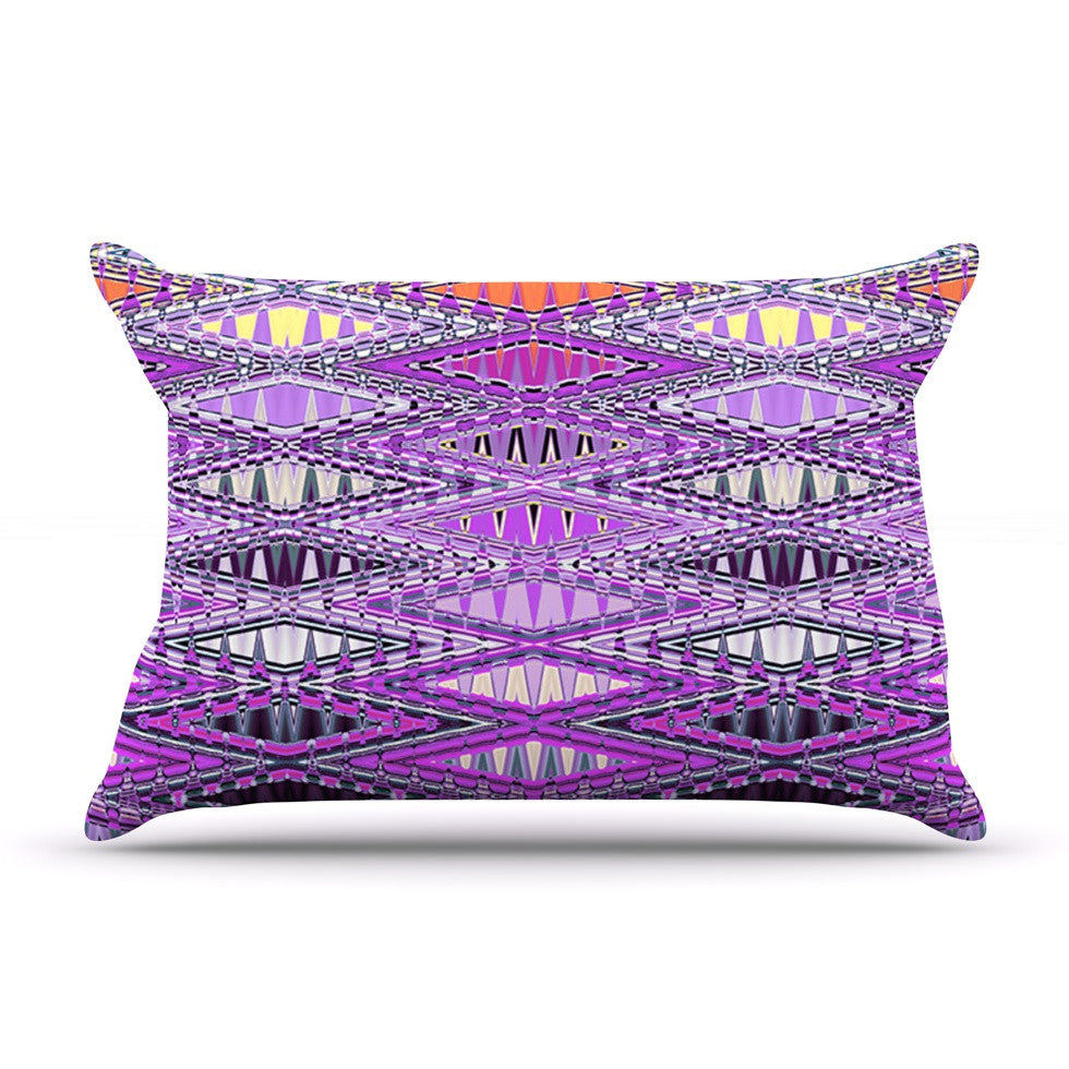 "Nina May ""Orche Kilim"" Pink Pillow Sham - KESS InHouse"