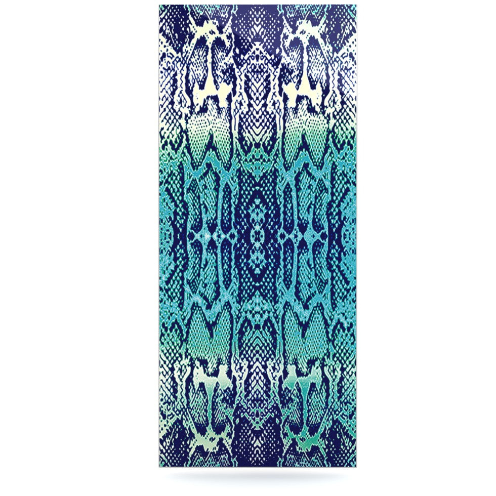 "Nina May ""Aqua Snake"" Blue Teal Luxe Rectangle Panel - KESS InHouse  - 1"