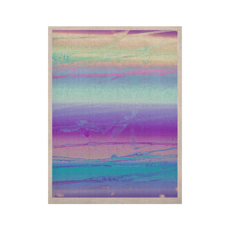 "Nina May ""Drip Dye Cool"" Pastel Blue KESS Naturals Canvas (Frame not Included) - KESS InHouse  - 1"