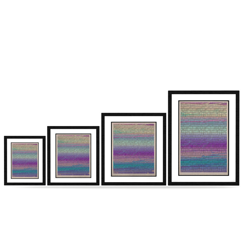 "Nina May ""Drip Dye Cool Strid"" Pastel Geometry KESS Naturals Canvas (Frame not Included) - KESS InHouse"