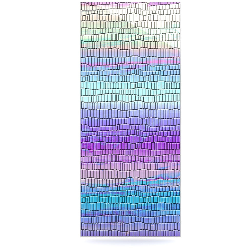 "Nina May ""Drip Dye Cool Strid"" Pastel Geometry Luxe Rectangle Panel - KESS InHouse  - 1"