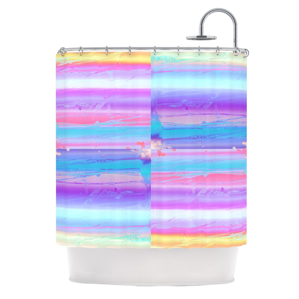 "Nina May ""Drip Dye"" Paint Pastel Shower Curtain - KESS InHouse"