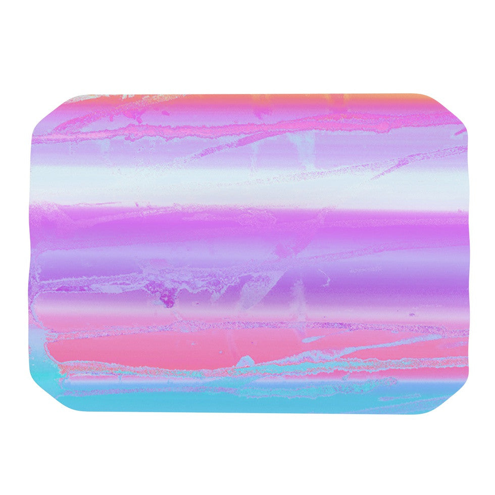 "Nina May ""Drip Dye Warm"" Purple Orange Place Mat - KESS InHouse"