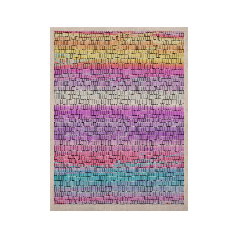 "Nina May ""Drip Dye Warm Strid"" Orange Pink KESS Naturals Canvas (Frame not Included) - KESS InHouse  - 1"