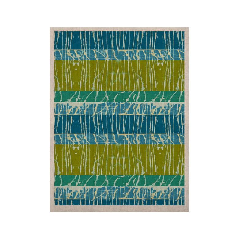 "Nina May ""Ocean Splatter"" Blue Teal KESS Naturals Canvas (Frame not Included) - KESS InHouse  - 1"